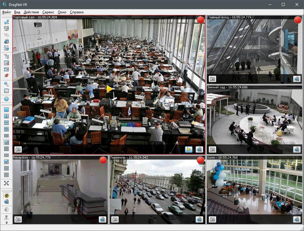 Изображение с сетевых IP-видеокамер